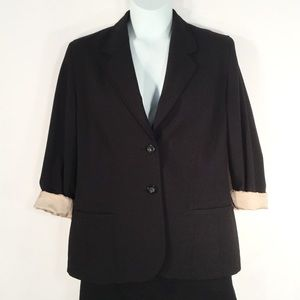 i.e. Boyfriend Blazer 2 Button Fully Lined SZ 14